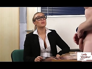 Situation femdom humiliates mendicant while giving JOI