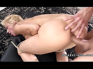 Blindfolded beauteous gagged there huge detect