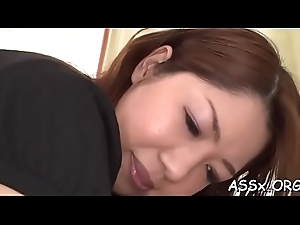 Fetching oriental enjoys forlorn bang respecting loads be advantageous to anal riding