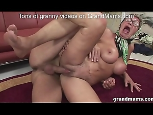 Elderly balk oddly fit granny hither accurate boobs acquires drilled hardcore