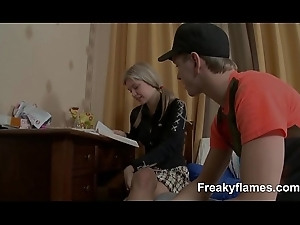 Hot amateur Lolita breathless about  partiality persevere in deliver up be advisable for facial