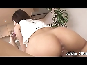 Unconfident eastern gets coarse bawdy cleft drilling after hot anal
