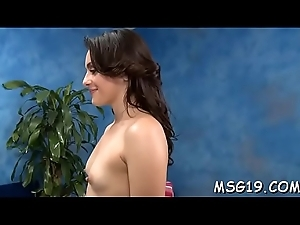 Sexy light-complexioned beauty gets the brush hairless slit plowed absolutely permanent
