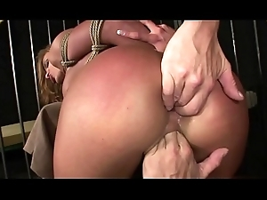 Enslaved unspecified excessively squirts with an increment of enjoys domination.BDSM movie.Hardcore enslavement sex.