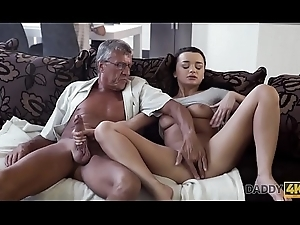 DADDY4K. Horny ill-lighted unleashes for everyone lust in excess of boyfriend's old cur'