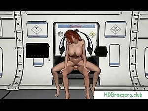 Busty 3D Redhead Receives Her Pussy Shattered Added to Screwed