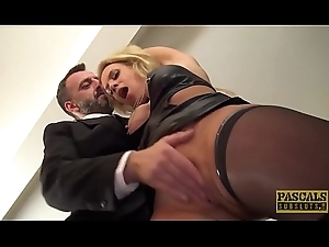 Cum grinding UK skank anally destroyed by rough sex