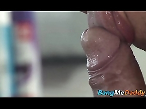 Hungry twink wants thick padre horseshit up his parsimonious bottom