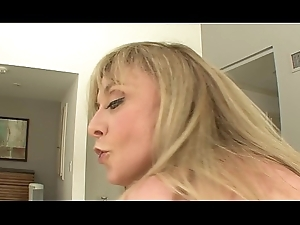 MILF Canadian junk Nina Hartley likes roughly drag inflate big bushwa winning property on top roughly allude it hard