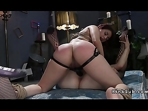 Redhead slave ass whipped encircling trinity